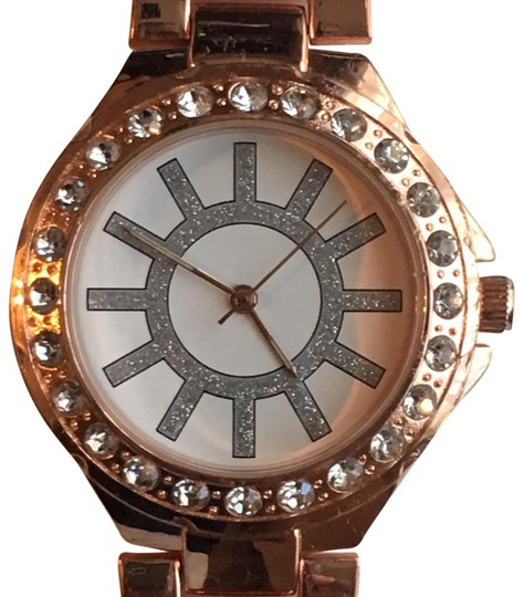 Preload https://img-static.tradesy.com/item/24527044/claire-s-rose-gold-tone-ladies-quartz-fashion-w-crystal-accented-bezel-watch-0-1-540-540.jpg