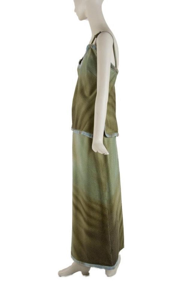 97b44ee22c42 Fendi Green Mink and Cashmere Runway 2 Piece Outfit Skirt Suit Size ...