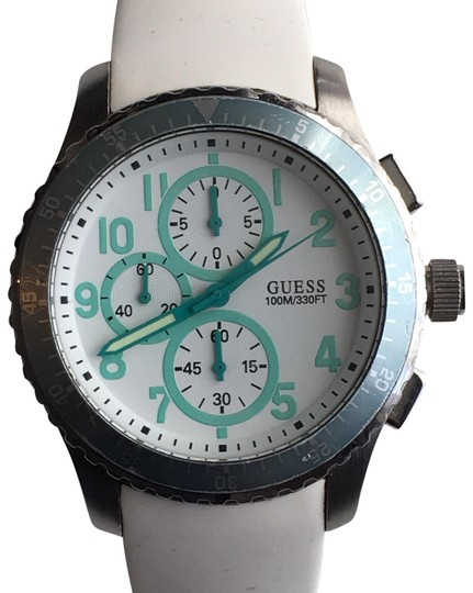 Preload https://img-static.tradesy.com/item/24527090/guess-tealwhite-geared-for-adventure-u12651g5-stainless-steel-chronograph-watch-0-1-540-540.jpg