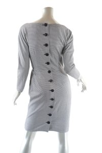 Dior short dress Black White Houndstooth Rear Buttoned on Tradesy