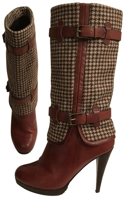 Item - Brown Beige Nike Air Kennedy Leather Wool Tweed Boots/Booties Size US 6 Regular (M, B)