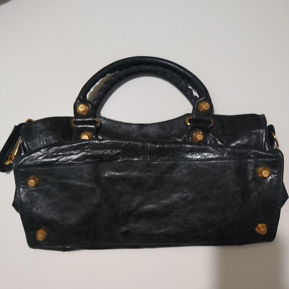 03120a3f772 Balenciaga Metalic Giant 21 Gold Hardware Satchel in Black Image 11.  123456789101112