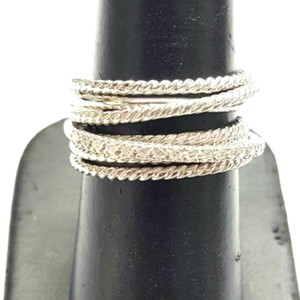 David Yurman GORGEOUS! David Yurman Crossover Wide Cable Pave Diamond Ring Sterling Silver 0.18 carat Total Weight Pave Diamonds 11mm Wide Size 8 100% Authentic Guaranteed!! Comes with Original David Yurman Pouch!!