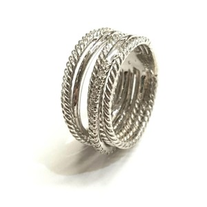 David Yurman GORGEOUS! David Yurman Crossover Wide Cable Pave Diamond Ring Sterling Silver 0.18 carat Total Weight Pave Diamonds 11mm Wide Size 7.5 100% Authentic Guaranteed!! Comes with Original David Yurman Pouch!!
