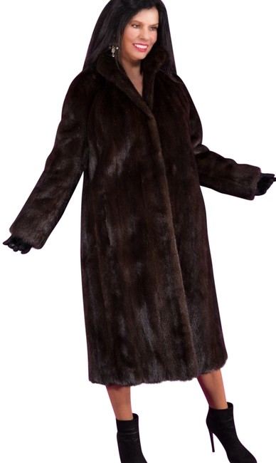 Item - Brown Pastel Mink Full Length Jacket A-line Small Coat Size 10 (M)