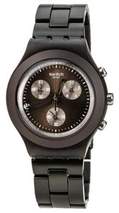 Swatch SVCC4000AG Men's Brown Steel Bracelet With Brown Analog Dial Watch