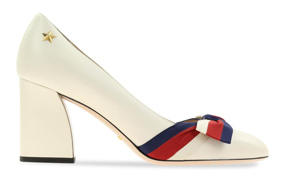 dbdcd4c581c Gucci White Aline Block Heel Pumps Size EU 39 (Approx. US 9) Regular ...