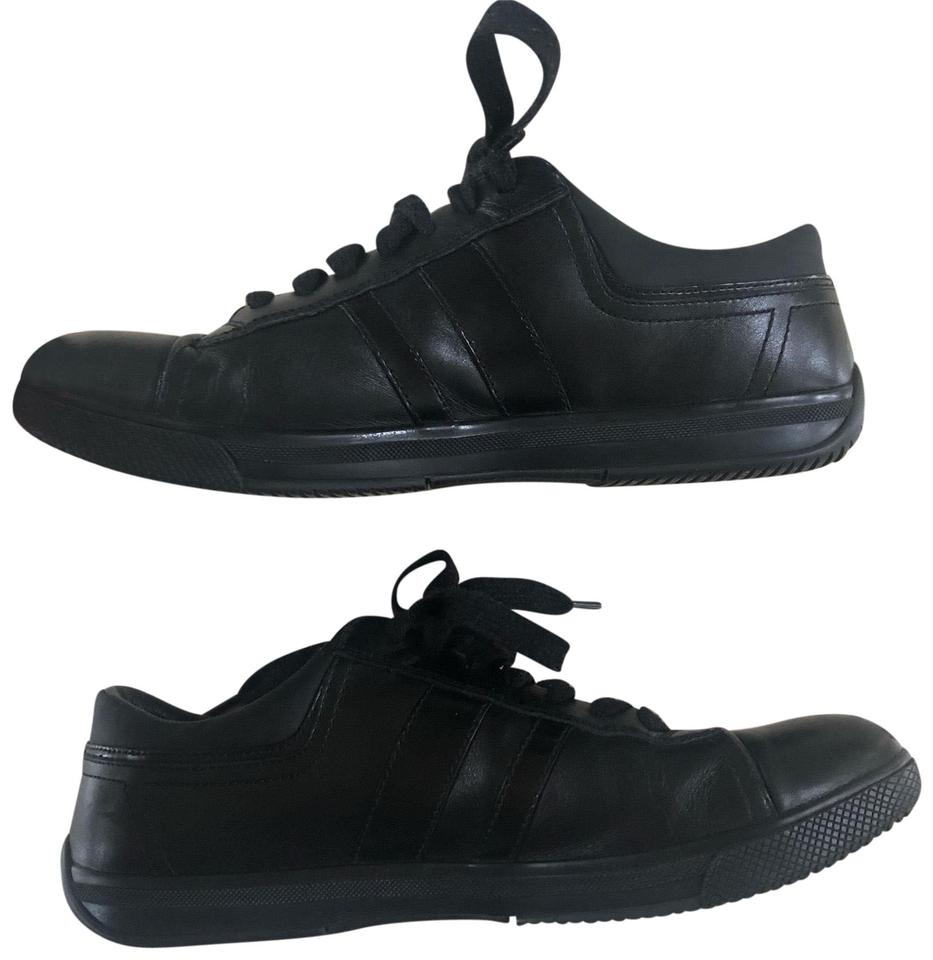 Or Striped Sneakers Size Leather Black Prada Men's Womans wF4XHPqW