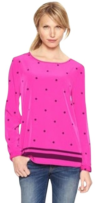 Preload https://item3.tradesy.com/images/gap-bright-pink-and-maroon-polka-dot-stripe-tall-blouse-size-16-xl-plus-0x-2452762-0-2.jpg?width=400&height=650