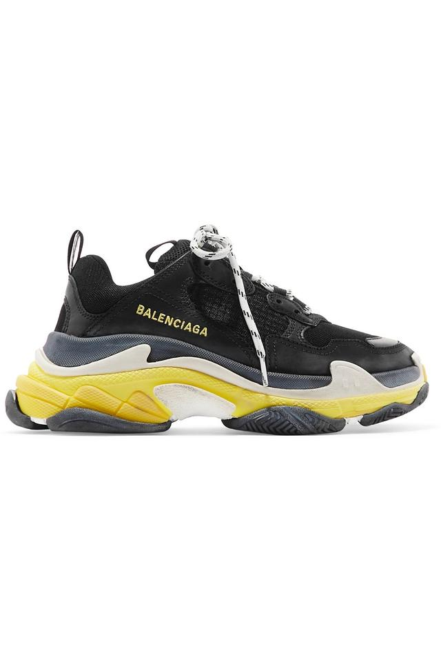 84bf9e4c4236 Balenciaga Triple S Logo-embroidered Leather Nubuck and Mesh Sneakers  Sneakers