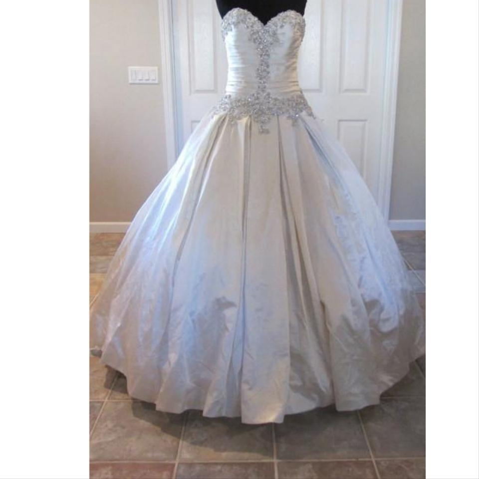 a648c8a671a2 Allure Bridals Ivory Satin 9003 By Feminine Wedding Dress Size 14 (L ...