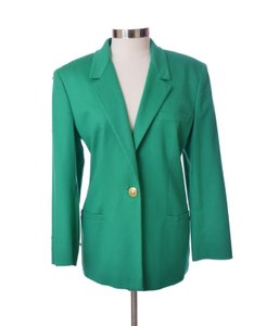 Versace Vintage Couture Casual Green Blazer