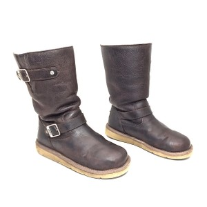 UGG Australia Sheepskin Midcalf Flat Brown Boots