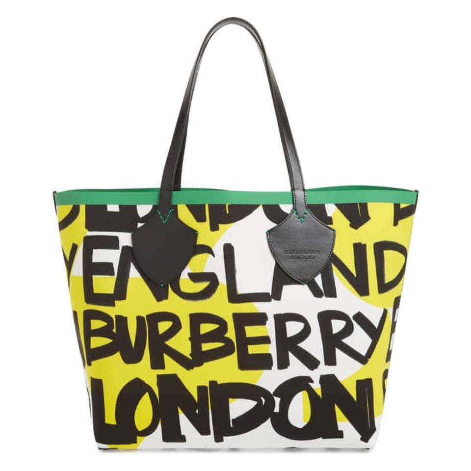f178bca2bb7b Burberry Giant Graffiti Print Handbag New Season None Like It Bold ...