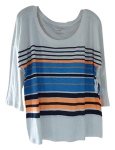 Old Navy New With Tags Preppy Fall Summer 3/4 Sleeve Jcrew T Shirt Multi Stripe