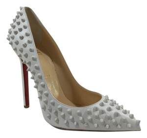 Christian Louboutin Leather Stiletto Pigalle White Pumps