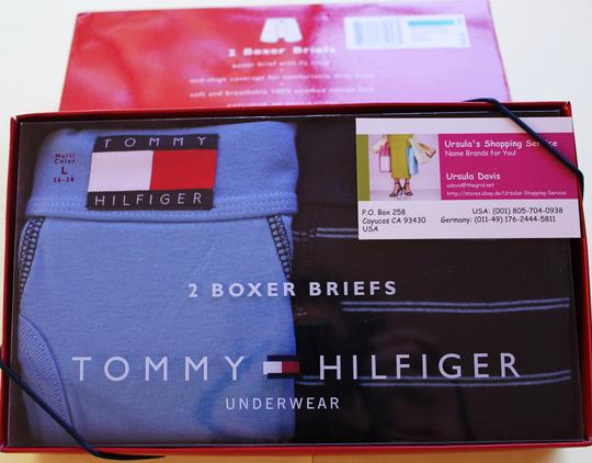 Tommy Hilfiger MEN'S Tommy HILFIGER boxer SHORTS (L) underwear NWT 2 pairs Image 1