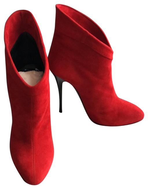 Item - Red Suede Leather Boots/Booties Size US 6 Regular (M, B)