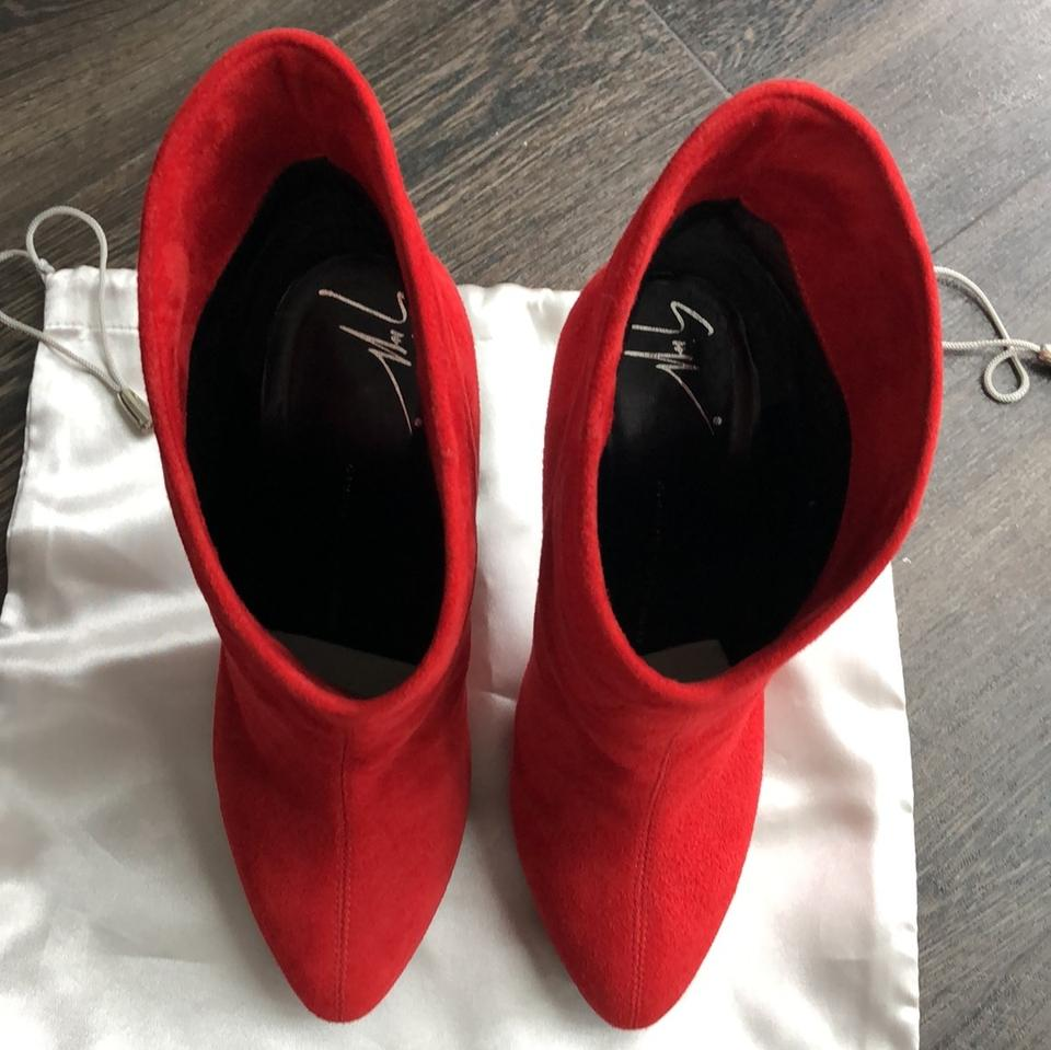 a06aaa62132c5 Giuseppe Zanotti Red Suede Leather Boots/Booties Size US 6 Regular (M, B) -  Tradesy