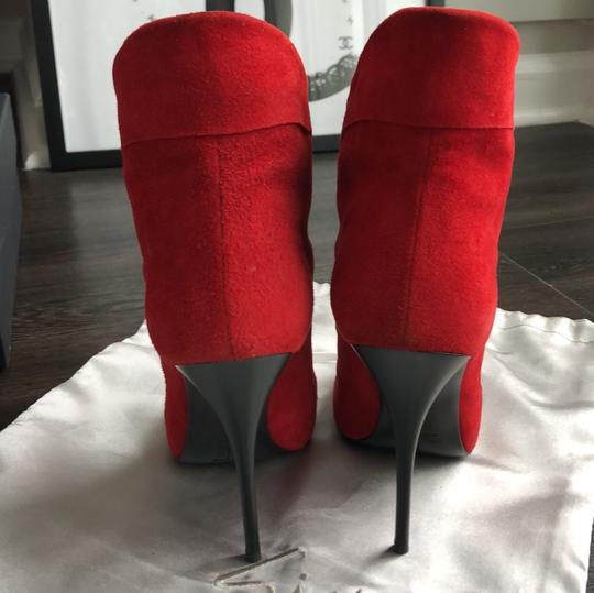 dfae8c7f6faf1 Giuseppe Zanotti Red Suede Leather Boots/Booties Size US 6 Regular ...