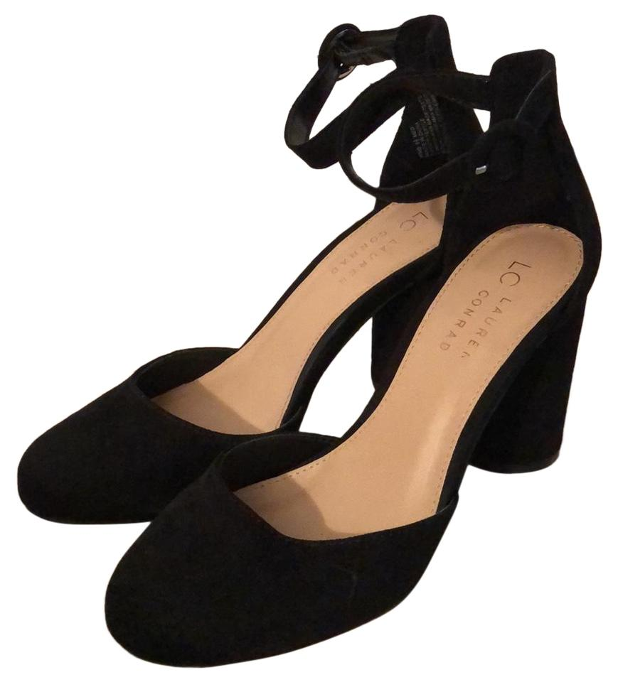 34e2bb87f7fb5 LC Lauren Conrad Hydrangea Black 160089 Pumps Size US 6.5 Regular (M ...