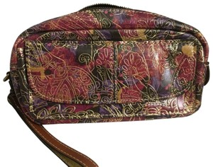 Patricia Nash Designs PATRICIA NASH METALLIC TOOLED LACE REMINI LARGE CLUTCH, COSMETIC CASE