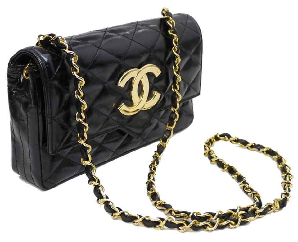 0a96917a01f027 Chanel Vintage Black Quilted Lambskin Classic Flap With Jumbo Cc Cross Body  Bag Image 0 ...