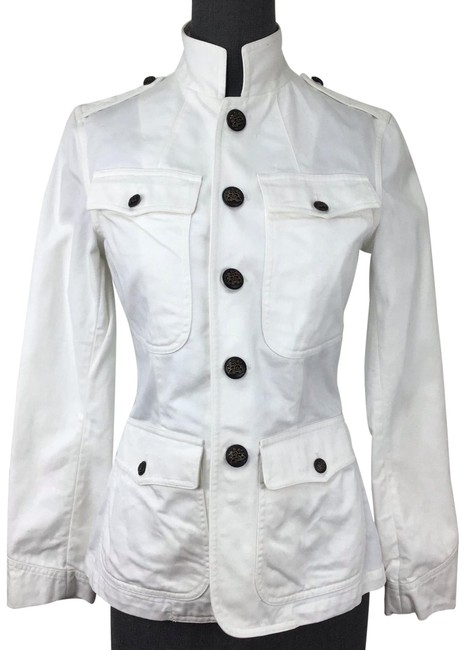 Ralph Lauren White Naval Style with Brass Insignia Buttons Jacket Size 6 (S) Ralph Lauren White Naval Style with Brass Insignia Buttons Jacket Size 6 (S) Image 1