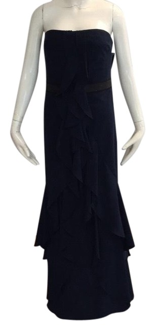 Item - Navy Long Cocktail Dress Size 10 (M)