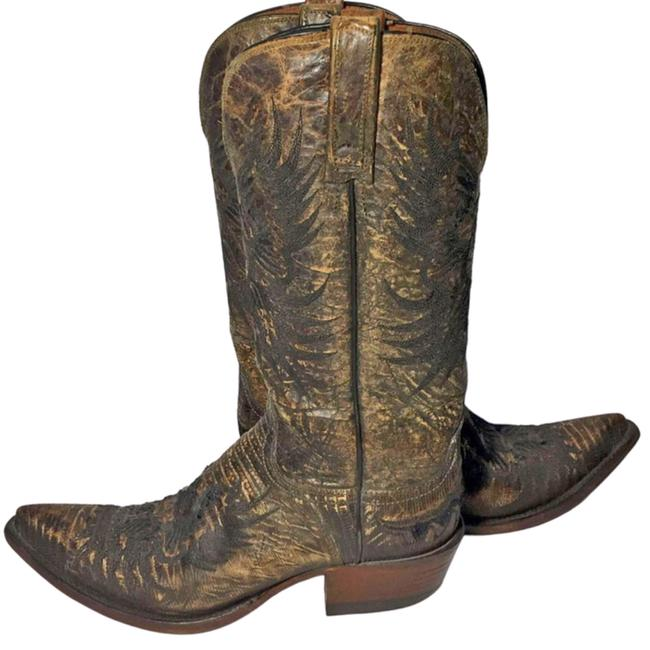 Item - Brown 1883 Eagle Lizard Exotic Leather Cowgirl B Boots/Booties Size US 7 Regular (M, B)