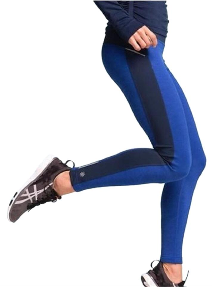 4bd858633cea Athleta Blue With Tags Powerlift Tights Activewear Bottoms Size 16 ...