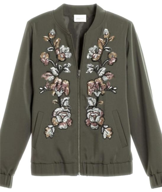 Item - Grape Leaf Limited Edition Embellished Bomber Jacket Size 12 (L)