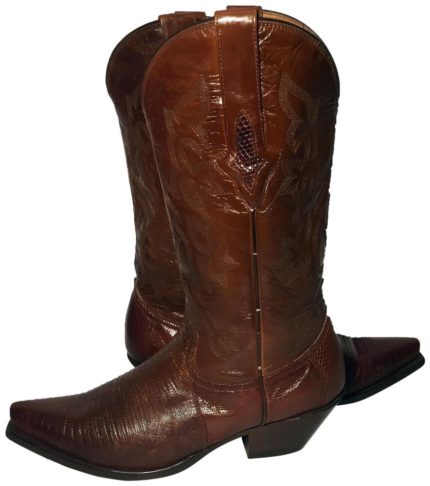 17bf86a0a77 Lucchese Brown Resistol By Lizard Leather Cowgirl Women B Boots/Booties  Size US 8 Regular (M, B) 49% off retail