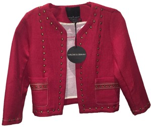 Harlowe & Graham red Leather Jacket
