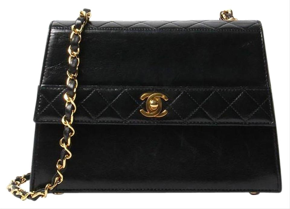 279b69b9d3d2 Chanel Timeless Tote Vintage Quilted Small Kelly Flap Black Lambskin ...
