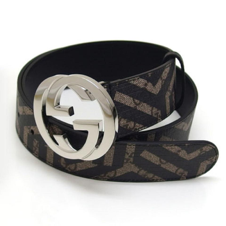 df428284666c Gucci Gucci Black and Beige GG Caleido Unisex belt 411924 size 105 Image 0  ...
