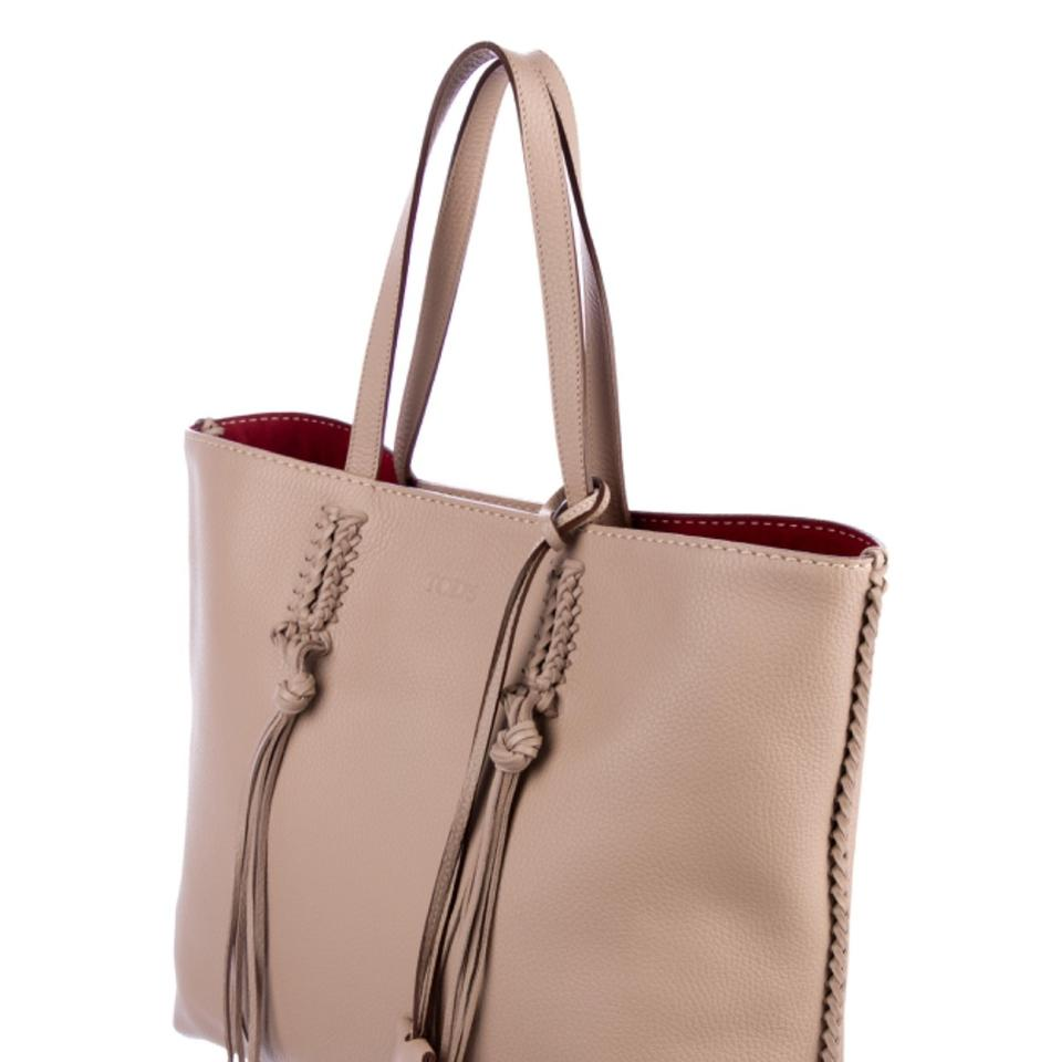 905644a8d09 Tod's 'gipsy' Tote with Silver Hardware Tonal Whipstitch Trim Dual ...