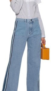 Victoria, Victoria Beckham Trouser/Wide Leg Jeans-Medium Wash