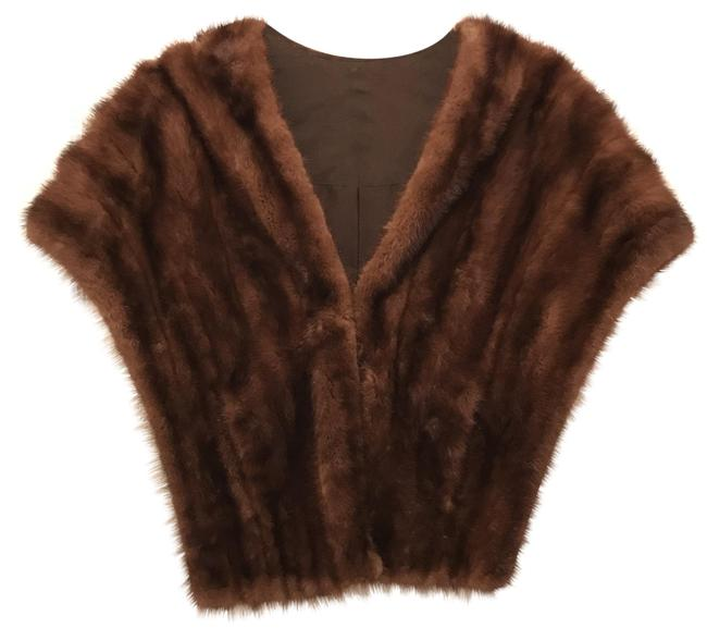 Item - Brown Natural Mink Stole Cape Coat Size 14 (L)