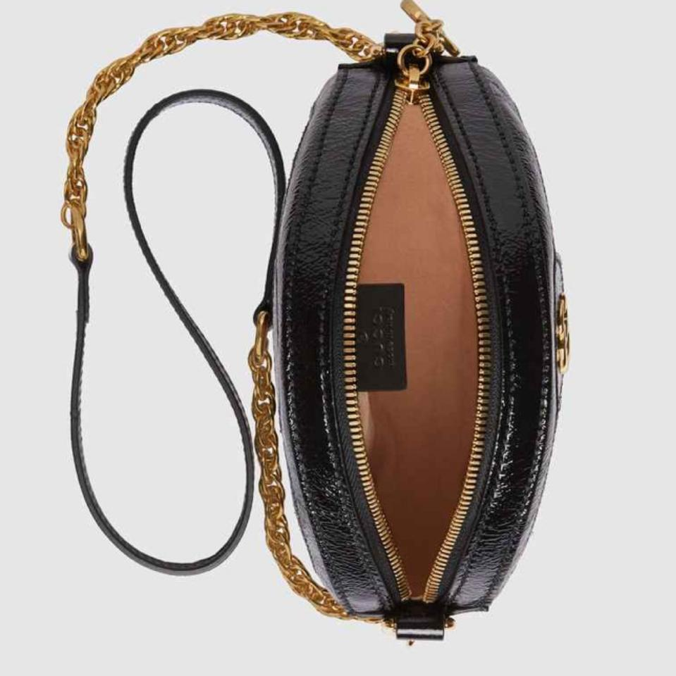 b2919abc60ff Gucci Shoulder Ophidia Mini Round Black Suede Leather Cross Body Bag ...