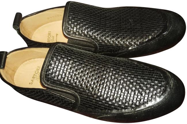 Item - Black Woven Rubber Soles Sneakers Flats Size EU 40 (Approx. US 10) Wide (C, D)