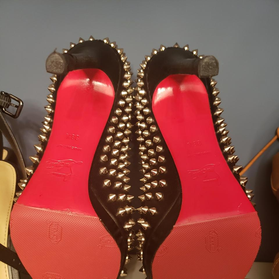 a7f1c0314d03 Christian Louboutin Black with Silver Studs Cl Pigalle Plato 120 ...