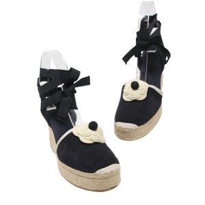 Chanel Caviar Le Boy Quilted Double Flap Coco Navy Blue Wedges