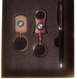 BMW Exclusive VIP Stainless Steel Keyrings & Pen Set
