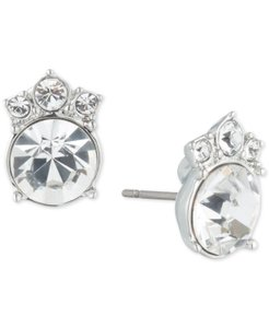 Givenchy Swarovski silver stud earring