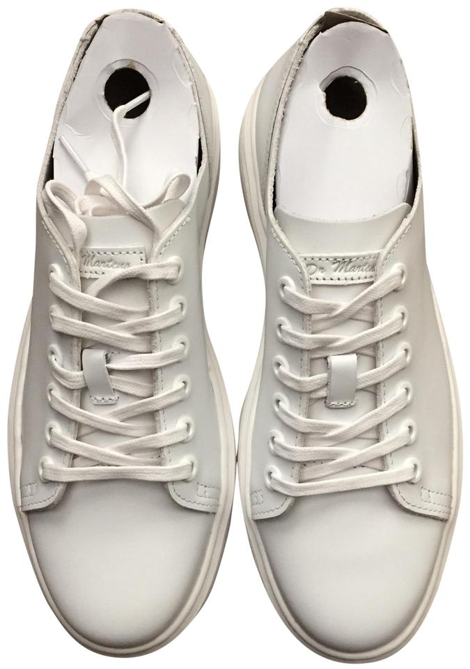Dr. Martens White 6 Eye Raw Leather Sneakers Size US 8 Regular (M 939de39986