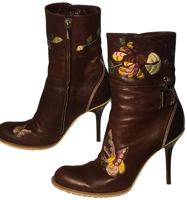 Item - Multicolor Ankle Floral and Butterflies Boots/Booties Size US 8 Regular (M, B)