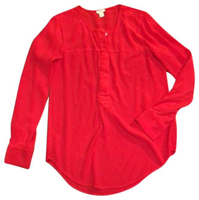 Item - Red Pullover Blouse Tunic Size 6 (S)