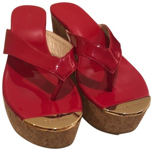 Jimmy Choo Red Wedges