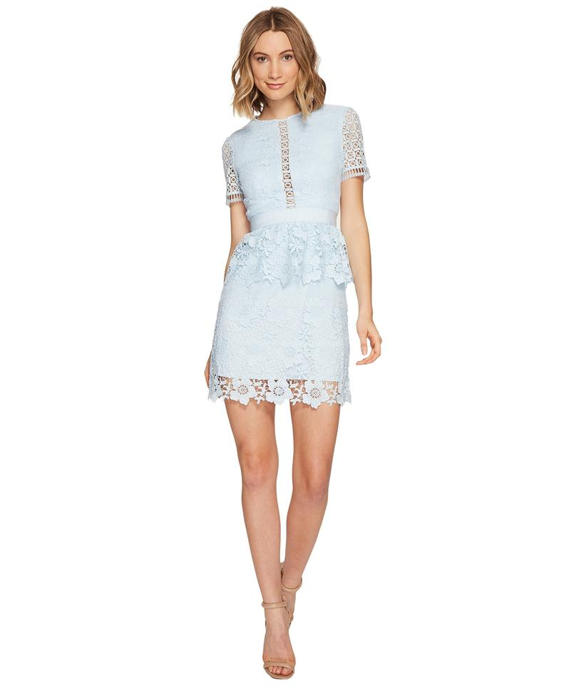 ab43d23e502c37 Ted Baker Baby Blue London Dixa Layered Lace Skater Short Cocktail ...